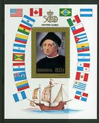 W2 Voyages Of Christopher Columbus Stamp Mini Sheet Ms2377 From Mongolia Umm