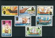 W2 Voyages Of Christopher Columbus Stamp Set Sg2370-76 From Mongolia Umm