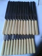 24 Rare Stunning Rare Walker Hall Antique Table Knives Excellent Set Hand Pinned