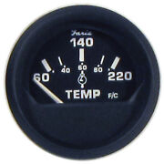 12819 Faria Euro Black 2 Cylinder Head Temperature Gauge 60 To 220anddeg F ...