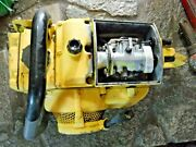 Vintage Big Mcculloch Super 250 Chainsaw For Parts, Untested 80cc 87cc