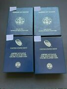 Lot Of 4 2011121314 American Eagle One Ounce Silver Uncirculated Coin Sets
