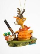 Deer Hunter Duck Decoys In Boat Christmas Holiday Ornament 3.75 Inches