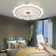 Acrylic Lighting 20 Led White Invisable Ceiling Fan Lamp Remote Chandeliers Usa