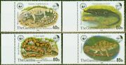 Gambia 1981 Nature Reserve 4th Series Set Of 4 Sg460-463 V.f Mnh 40b Is Mm