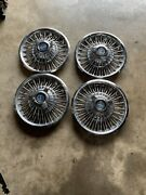 65 66 Ford Mustang Wire Wheel Hub Caps 14andrdquo Set