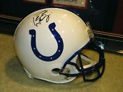 Peyton Manning Signed Auto Throwback Colts Authentic Proline Full Size Helmet