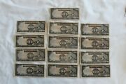 Wwii Phillipines Japanese Invasion 100 Peso Bank Note Lot Of 13