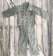 Vintage 50s Childandrsquos Army Fatigues Korea Imjin Scouts 2nd Infantry Dmz Costume Ad