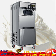 Usa Warranty 20l/h Stand Commercial 3 Flavors Ice Cream Machine Stainless Steel