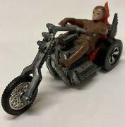 Hot Wheels Rrrumblers Torque Chop Red Seat With Brown Driver Motorcycle 1973