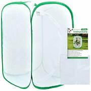 36 Inch Tall Large Butterfly Habitat Cage With Clear Pvc Film Terrarium Plants