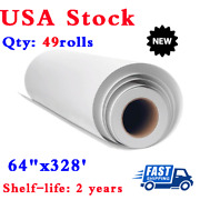 Us 49rolls 90gsm 64x328and039 Hanji Dye Sublimation Paper Heat Transfer Print Paper