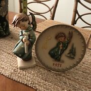 Set Of 2/ Goebel/hummel 21/11 264 / Heavenly Angel /with Plate/ Simply Gorges