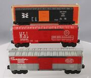 Lionel Vintage O Assorted Freight Car Lot 6464-425 6464-525. 6464-125 [3]/box