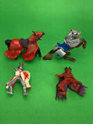 Lot 4- Vintage 2004 Papo Toys Knights Horses Medieval Kingdom Castle Theme As-is