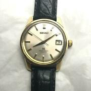 Seiko Grand Seiko Second Band Leather Band Color Gold Manual Winding Type Used