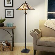Style Floor Lamp 65 Tall Stained Glass Living Room Bedroom Decoration