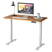Costway Electric Adjustable Standing Desk Stand Up Workstation W/control Maple