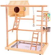 Qbleev Bird Perches Nest Play Stand Gym Parrot Playground Playgym Playpen Playst
