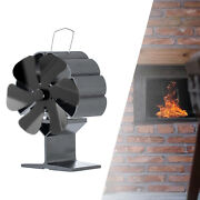 Fireplace Fan Heat Powered Wood Stove 6-blades Log Burning For Farmhouse