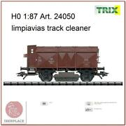 H0 Scale 187 Ho Model Trains Model Wagon Trix 24050 Limpiavias Track Cleaner