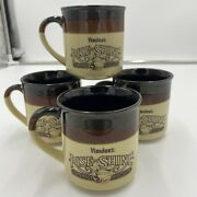 Vtg Hardees Rise And Shine Lot Of 4 Homemade Biscuit Coffee Cup Stoneware Mugs
