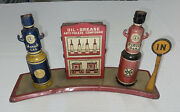 Parts / Restore Vintage Marx Toy Service Station Gas Pumps Tin Litho As-is
