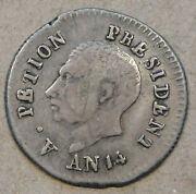 Haiti An 141817 25 Centimes Very Nice For Type Few Old Light Scratches On Face