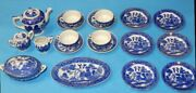 Vintage Blue Willow Ware Childrenandrsquos Tea Set Made In Japan