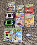 Leap Frog Leapster 2 Learning/ Handheld Games Systems Lot Of 2 With 8 Games
