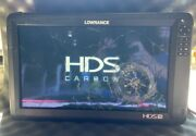 Lowrance Hds-16 Carbon Fish Finder Sonar Charting Mapping 000-13735-001-tested