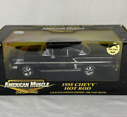 American Muscle 1958 Chevy Impala Hot Rod 118 Die Cast Nice New In Box.