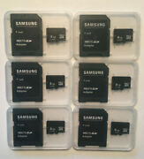 Lot Of 6 Micro Sd 8gb Card Class 10 W/ Adapters And Cases
