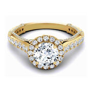 1.40 Ct Natural Diamond Engagement Ring For Women 14k Yellow Gold Size 5 6 7 8 9