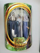 New 2001 Toybiz Lord Of The Rings Fellowship Gandalf Light Up Staff Action