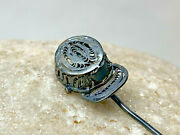 Antique Sterling Silver Rare Keppi Military Cap Stick Hat Pin 2.88g Jewelry