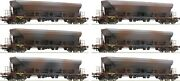 Roco 77915 Set 12 Wagons Hopper Type Facs Distressed By Hand