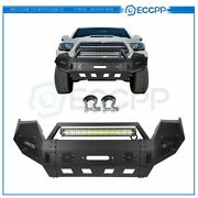 Eccpp Front Winch Bumper W/ 25 Led Light Bar And D-rings For Toyota Tacoma 16-20