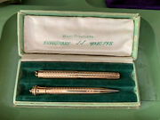 Wahl Eversharp Fountain Pen And Pencil Set Gold Filled Body With 14k Gold Nib