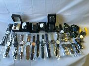 Huge Menand039s Watch Lot - 49 Pieces Analog Digital New And Used 1