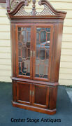 62405 American Drew Chippendale Lighted Corner China Cabinet Curio