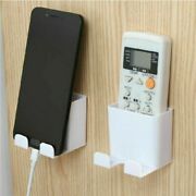 Wall Mounted Storage Box Plug Bracket For Remote Control Mobile Phones Holder