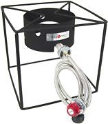 Compact Burner Camp Stove Gas Cooker With High Pressure Propane Regulator And Hose