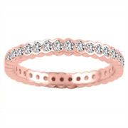 2 Carat Womens Natural Diamond Engagement Band 14k Solid Rose Gold Sizes 6 7 8 9