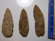 902 Lot Of 3 Artifacts Only,3 Arrowheads,texas, Found By West Family
