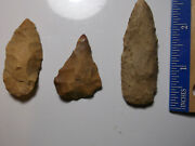 903 Lot Of 3 Artifacts Only,3 Arrowheads,texas, Found By West Family
