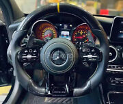 100amg Carbon Fiber Flat Custom Steering Wheel For Mercedes-benz Amg Old To New