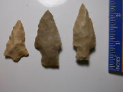 907 Lot Of 3 Artifacts Only,3 Arrowheads,texas, Found By West Family