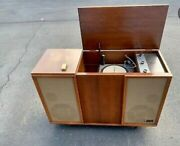 Vintage Mid Century Zenith Record Player Stereo Console